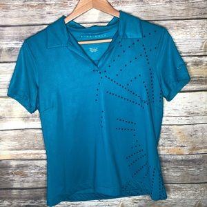 Nike golf women's dri-fit polo shirt teal blue M